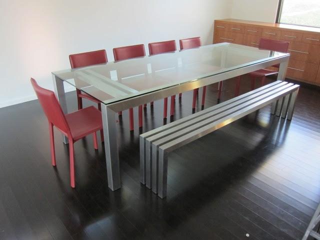 Linear Stainless Steel Bench | Sarabi Studio Austin, TX - modern ...