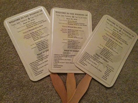 paper fan wedding programs     save