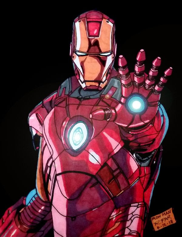 My illustration of IRON MAN.
