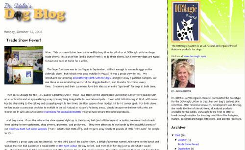 Dr Adelia's Dog Blog