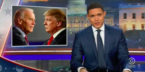 'The Daily Show' imagines Donald Trump vs. Joe Biden fight ...