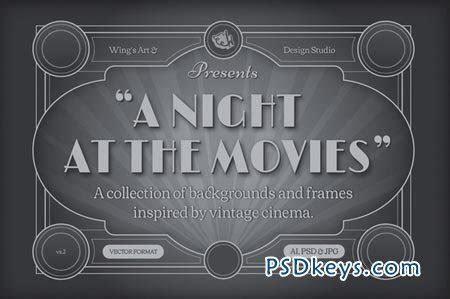 Vintage Movie Backgrounds and Frames 41144 » Free Download