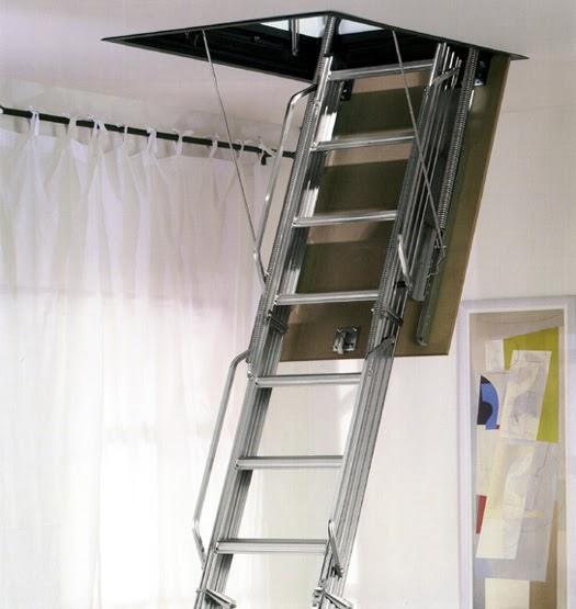 Casas prefabricadas madera escaleras de techo escamoteables - Escaleras de techo ...