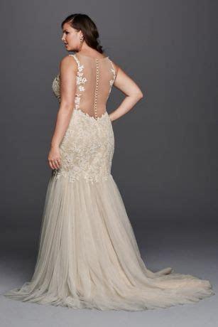 Beaded Trumpet Plus Size Wedding Dress Style 9SWG723