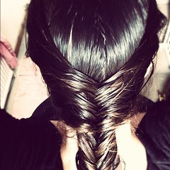 Another attempt at fishtail braid. This time with wet hair. :)