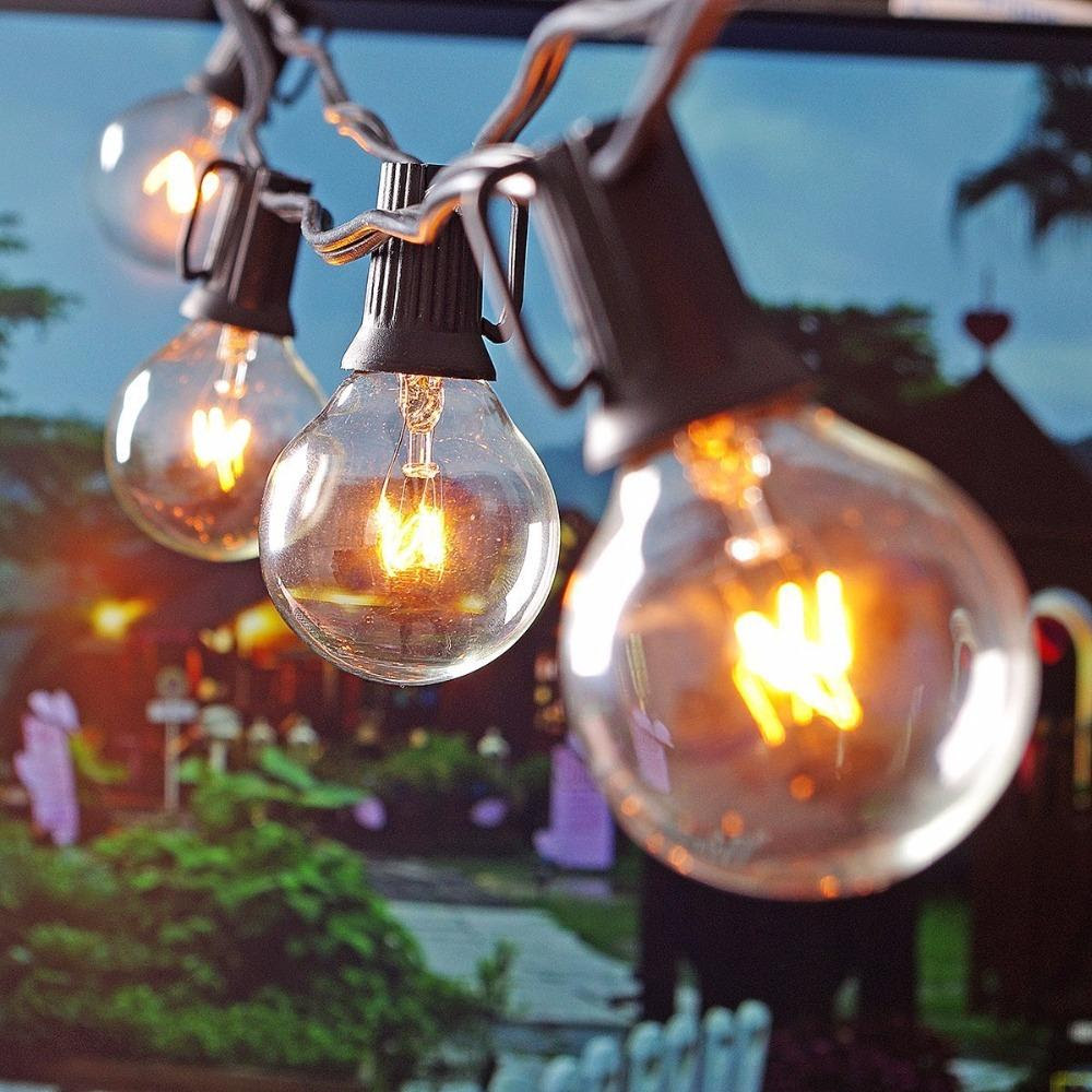 Wholesale Patio Lights G40 Globe Party Christmas String Light,Warm White 25clear Vintage Bulbs