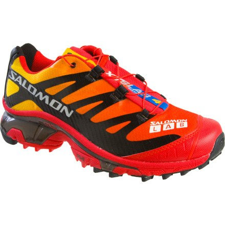 Salomon XT Wings S-Lab Softground Trail Running Shoes - Bright Red/ Impact Yellow/ Black 10