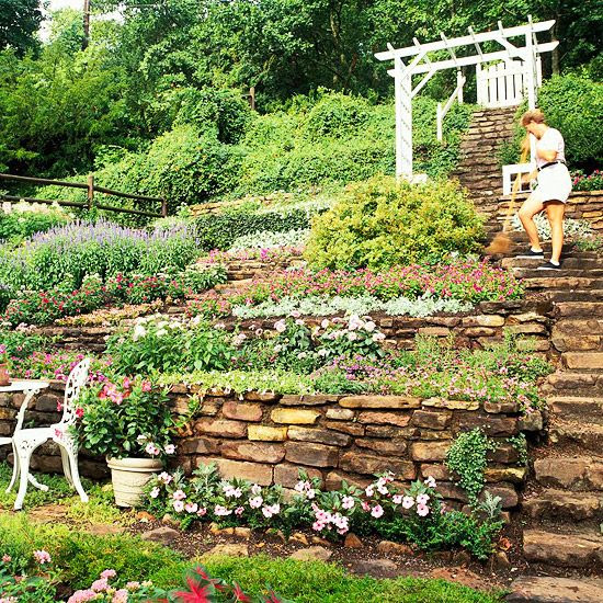 Landscaping ideas for hillside backyard