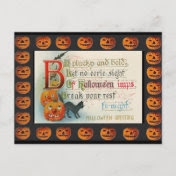 Vintage Halloween Imps Post Cards