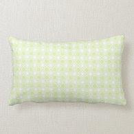 Pistachio Polka Dot Pattern Throw Pillows