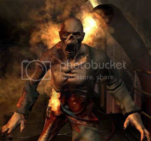 Flaming Zombie Pictures, Images and Photos