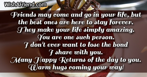 Friends May Come And Go In Best Friend Birthday Saying