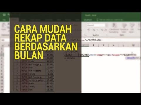 Cara Hitung Rekap Data Bulanan Otomatis di Excel