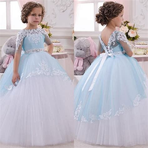 princess toddler pageant dress lace appliques