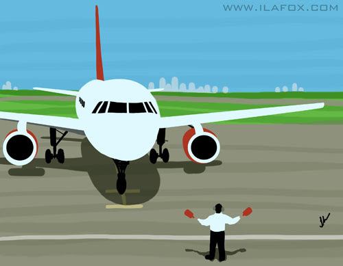 30 Day Drawing Challenge, turning point, Desafio dos 30 dias de desenho, momento de virada, avião chegando no aeroporto, taxiando pista, aeroporto londrina, by ila fox