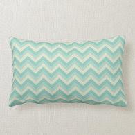 Aqua Blue Zigzag Pillow