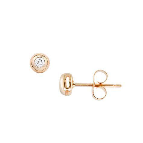 Designer Diamond Rose Gold Doughnut Stud Earrings   London