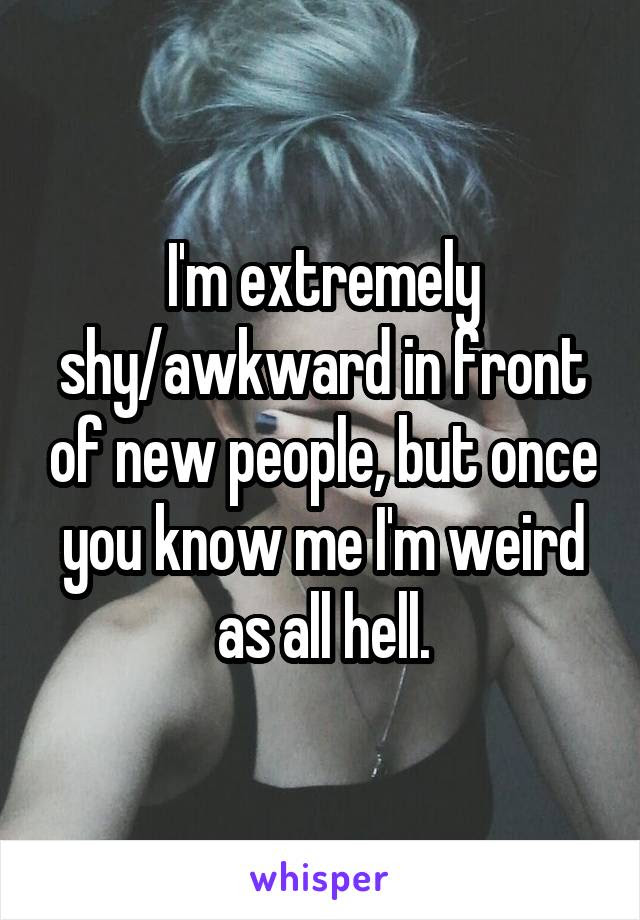 Im Extremely Shyawkward In Front Of New People But Once You Know