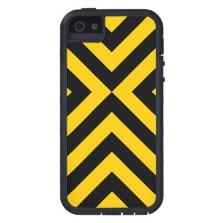 Yellow and Black Chevrons iPhone 5/5S Case