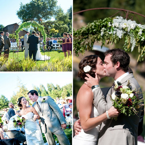 outdoor wedding ceremony Photo Credit Claire Barrett Photography