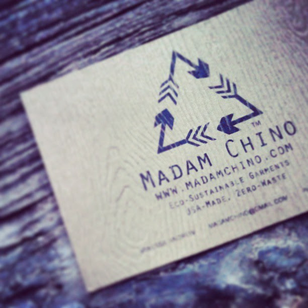 designed a new #logo and #new card on cool #recycled paper *note the m c in the arrow shapes!