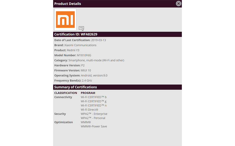 Redmi Y3 gets certified with Android Pie and MIUI 10