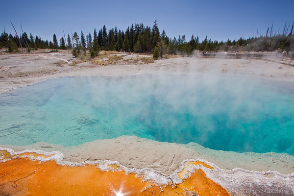 Black Pool, West Thumb Geyser Basin, Yellowstone National Park