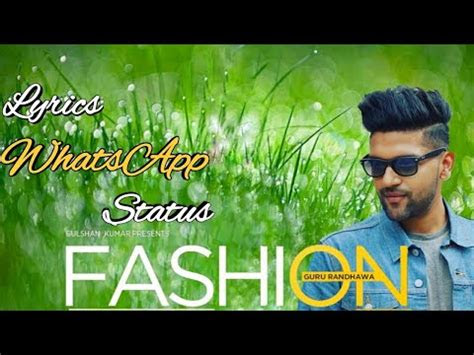 fashion kudiye guru randhawa lyrics whatsapp