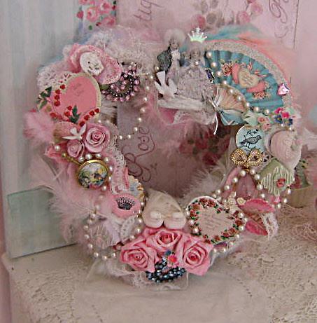 Marie & Louis Vintage Ephemera Valentine Wreath