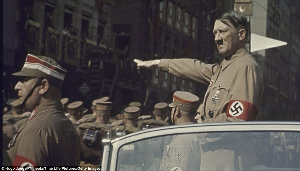 Mark on history: Hitler once told photographer Hugo Jaeger that 'colour photography was the future'