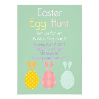 Easter Egg Hunt Personalized Invite