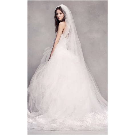 Vera Wang Bridal Ivory Silk Strapless Tulle Lace