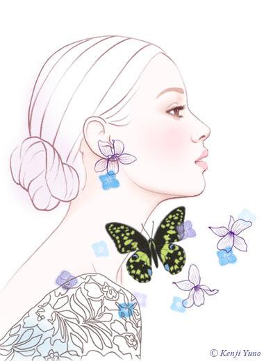 美しい女性イラスト 綺麗な女性イラスト 人物イラスト 油野健二