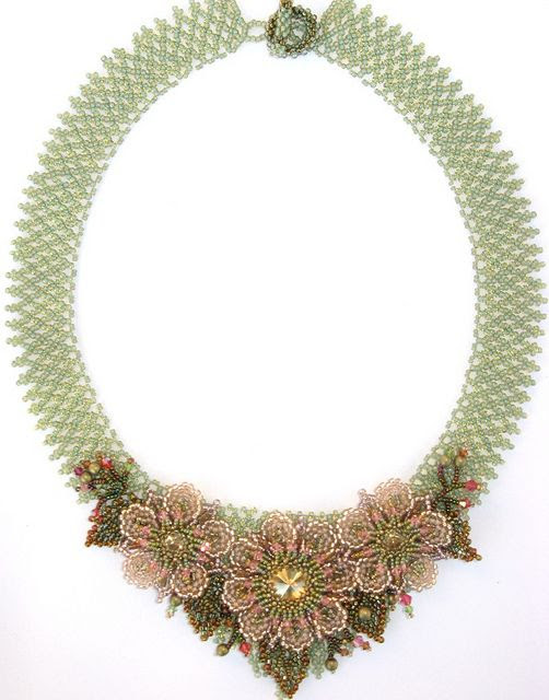 Roseate Bloom Necklace by Cielo Design, via Flickr