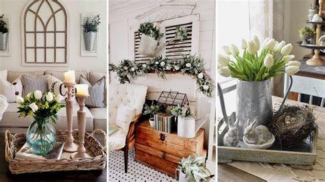 diy farmhouse style spring living room decor ideas