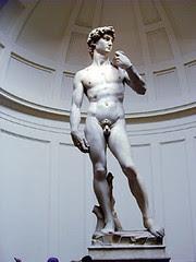 Statue David di dlm Galleria dell' Accademia, Florence, Italy