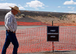 """""""Free Speech"""" zone during the Bundy confrontation"""