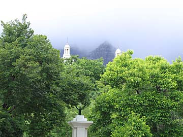 [table mountain obscured]