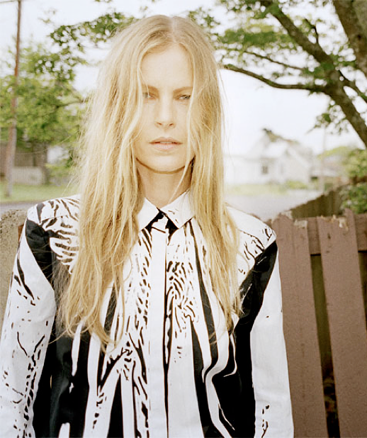 LOVE WANT MAGAZINE EDITORIAL LAID BACK GRAPHIC PRINT BLACK AND WHITE BUTTON UP COLLARED SHIRT