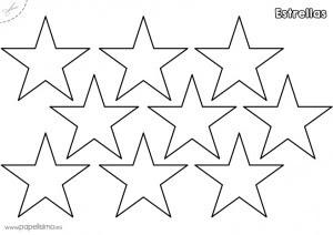 Plantillas De Estrellas Para Imprimir Papelisimo