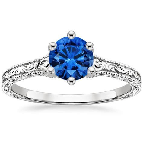 Sapphire Hudson Ring in 18K White Gold
