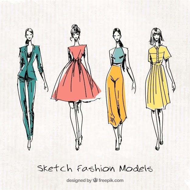 13 Elegant Fashion Design Dress Modeling