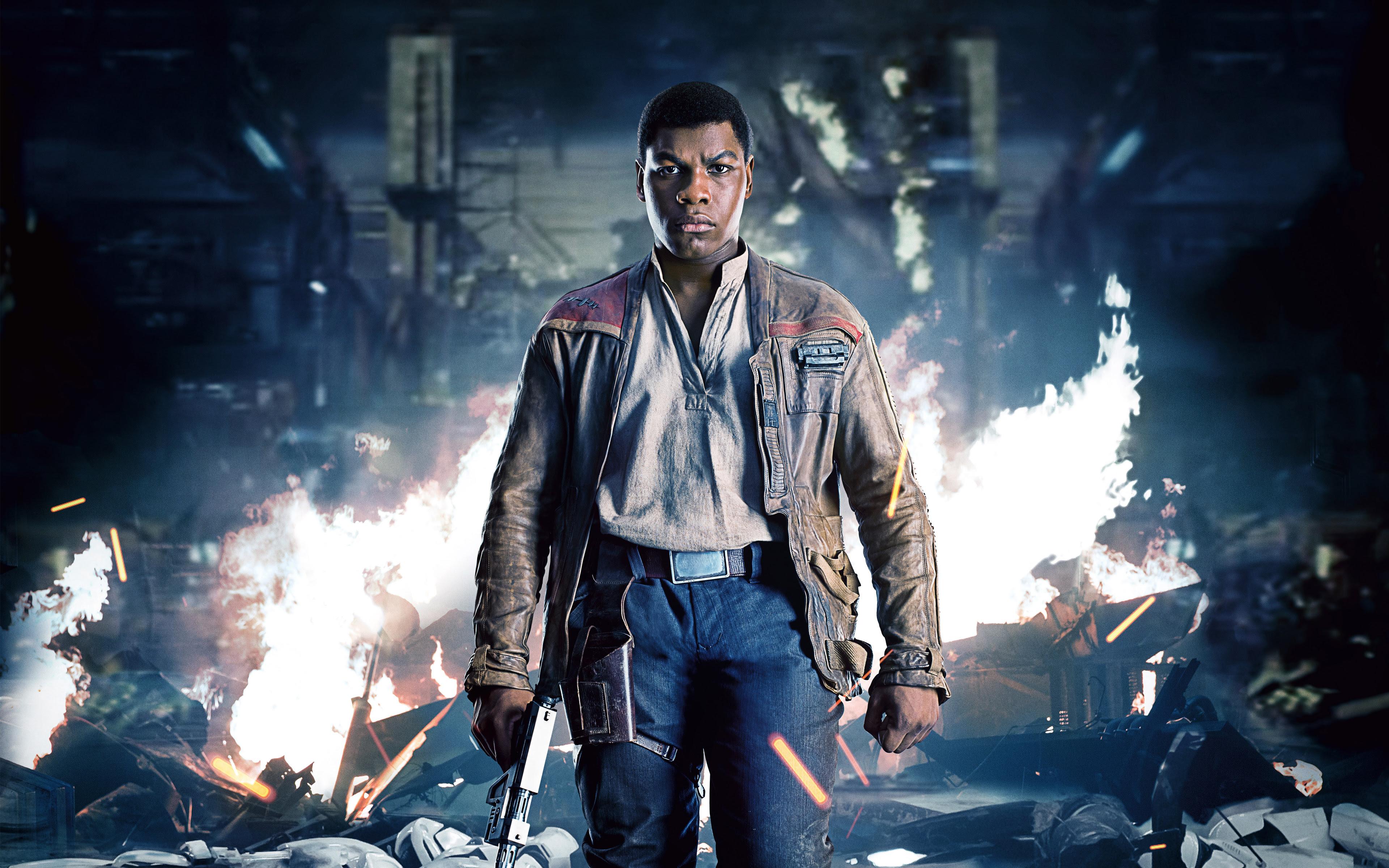 John Boyega As Finn Star Wars The Last Jedi 4k Wallpapers Hd