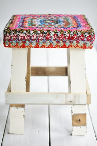 wood & twine wool stool by wood & wool stool