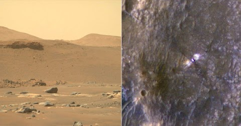 NASA Shares Two Perspectives of Perseverance's Landing Position