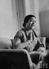 Um Kalthoum in a recording session for the Voice of Arabs radio station