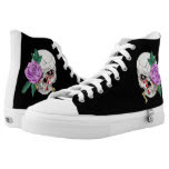 Skull and Rose Printed Shoes