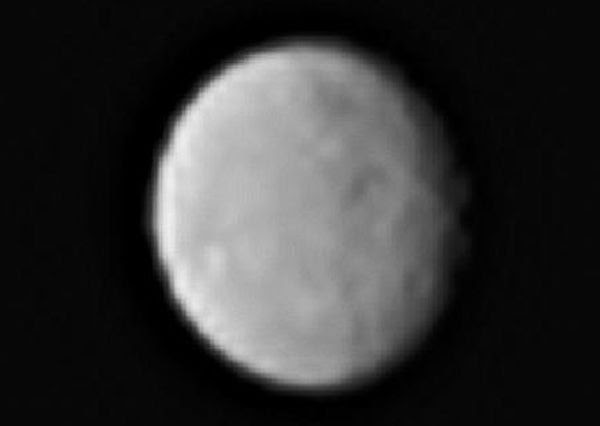 A cropped image of the dwarf planet Ceres that was taken by NASA's Dawn spacecraft from a distance of 238,000 miles (383,000 kilometers), on January 13, 2015.