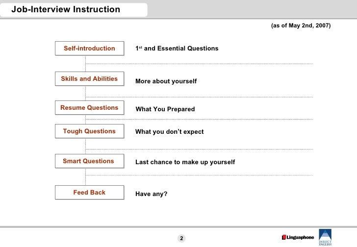 Job Interview Instruction