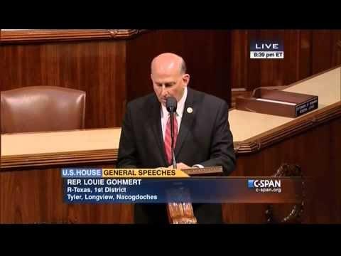 """Congressman Gohmert Reads """"Slaver Flags of Islam"""" in Congress"""